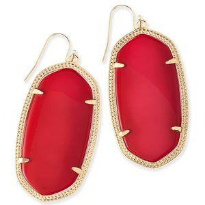 EUC - Kendra Scott Danielle Earrings In Bright Red